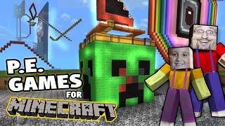 getlinkyoutube.com-Minecraft Pocket Edition Games by MIKE + Restaurant & New Roller Coaster! (w/ Dad)