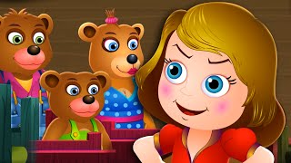 getlinkyoutube.com-Goldilocks and the Three Bears | Fairy Tales For Kids | Rhymes For Children