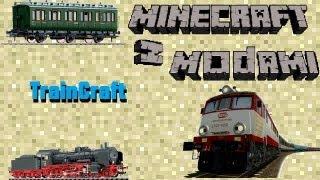 getlinkyoutube.com-Minecraft z modami #13  - TrainCraft - Wsiądź do pociągu i zostań maszynistą!
