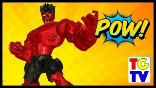 getlinkyoutube.com-Marvel Super Hero Mashers Red Hulk | Mix + Smash