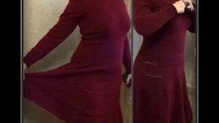 getlinkyoutube.com-теплое платье, вязание спицами