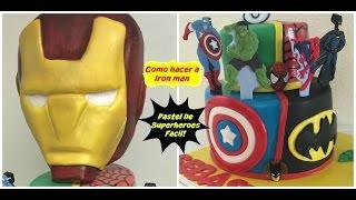 getlinkyoutube.com-Pastel superheroes Iron Man Facil!