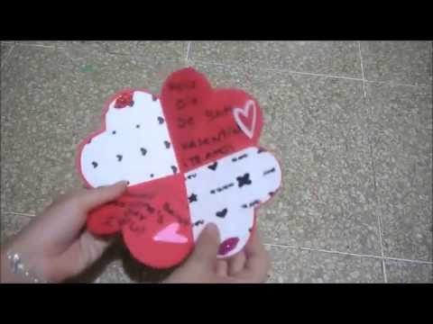 DIY♥ Tarjeta corazón para San Valentín - Yami