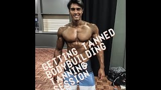 getlinkyoutube.com-Men's Physique Bodybuilding Competition   tanning session