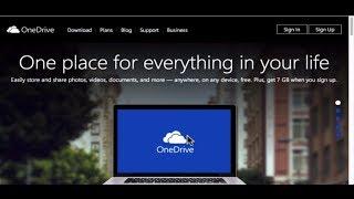 Microsoft OneDrive SkyDrive Windows Tutorial