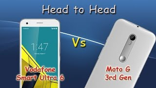 Head to Head: Vodafone Smart Ultra 6 vs Moto G 3rd Gen (Boot, Benchmark, Speaker, GPS, Browser)