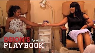 getlinkyoutube.com-Shelomi and Deiondra Bond Over Pedicures | Deion's Family Playbook | Oprah Winfrey Network