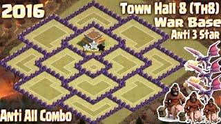 getlinkyoutube.com-[TOP 3] Coc Th8 war base 2016. Town Hall 8 Anti 3 Star Clash of clans