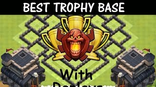 Clash Of Clans | Best Th9 Trophy Pushing Base  With Defense Replay's  Anti Gowipi Speed Build
