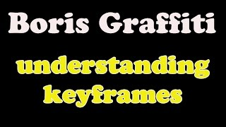 Boris Graffiti 6.1, basic keyframes