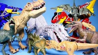 getlinkyoutube.com-Jurassic World 쥬라기 월드 공룡, 파워레인저 다이노포스 장난감 Dinosaurs & Dino Charge toys