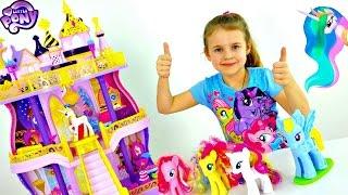 getlinkyoutube.com-ЛИТЛ ПОНИ: Замок Принцессы Селестии. Любимые Игрушки для девочек. Распаковка и Обзор с Ксюшей