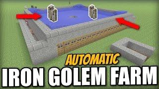 getlinkyoutube.com-Minecraft - AUTOMATIC IRON GOLEM FARM - Tutorial - PS4 / PE / Xbox / PS3 / Wii U