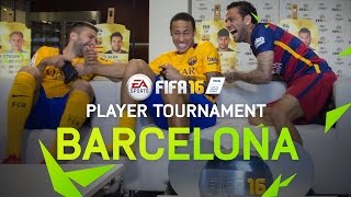 getlinkyoutube.com-FIFA 16 - FC Barcelona Player Tournament - Neymar, Alves, Alba, Turan, Ter Stegen, Bravo