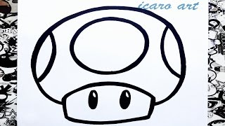 getlinkyoutube.com-como dibujar un hongo de mario bros | how to draw mushrooms mario bros