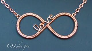 getlinkyoutube.com-Infinity love wirework pendant
