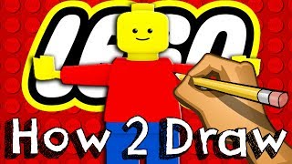 getlinkyoutube.com-How To Draw A Lego MiniFigure  #HowToDraw #Lego