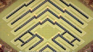 "getlinkyoutube.com-TH10 War Base - ""V"" Base 2.0!!! Better Than the Original! - Clash Of Clans"