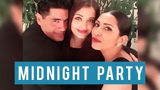 getlinkyoutube.com-Aishwarya Rai, Abhishek Bachchan, Karan Johar Celebrate Manish Malhotra 50th Birthday