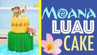 getlinkyoutube.com-Princess MOANA Cake - How to make a Hawaiian Luau Beach Cake | Disney Princesses