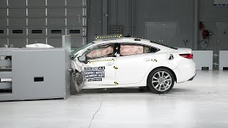 getlinkyoutube.com-2016 Mazda 6 small overlap IIHS crash test