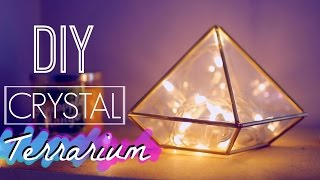 getlinkyoutube.com-DIY Easy Crystal Terrarium | Room Decor: Tumblr and Urban Outfitters Inspired