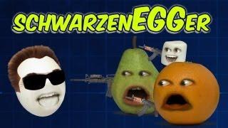 getlinkyoutube.com-Annoying Orange - Arnold SchwarzenEGGer (Ft. Kevin Brueck)