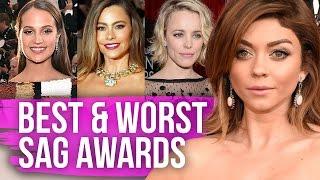getlinkyoutube.com-Best & Worst Dressed SAG Awards 2016 (Dirty Laundry)