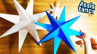 getlinkyoutube.com-Объемная ЗВЕЗДА из бумаги / Поделки оригами