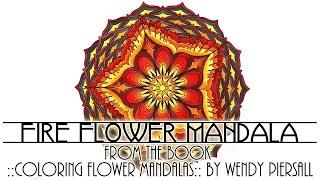 getlinkyoutube.com-Peaceful Energy Fire Flower Mandala Visual Meditation