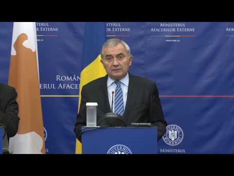 Declaraţii de presă ale ministrului Lazăr Comănescu împreună cu Ioannis Kasoulides, ministrul afacerilor externe al Republicii Cipru