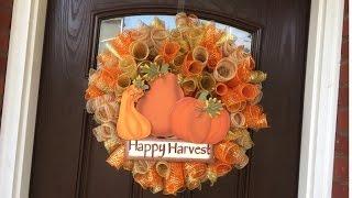 getlinkyoutube.com-Fall Mesh Loop Wreath Tutorial 2015