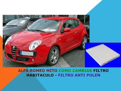 Alfa Romeo Mito como cambiar filtro habitaculo filtro anti polen