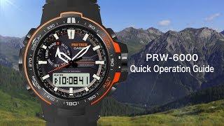 getlinkyoutube.com-CASIO PRO TREK PRW-6000 Quick Operation Guide