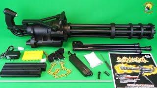 getlinkyoutube.com-Миниган игрушечный пулемет Toy Gun  Minigun M134  airsoft sport gun