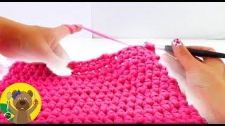 getlinkyoutube.com-Como fazer bolsa de mão em crochê rosa pink