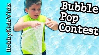 getlinkyoutube.com-Bubble Wrap CONTEST! Pop Air Paper Bubbles + Chocolate Surprise Eggs for Winners HobbyKidsVids