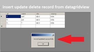 insert update delete data in database from datagridview