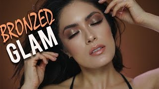 getlinkyoutube.com-Bronzed Glam Makeup Tutorial | Melissa Alatorre