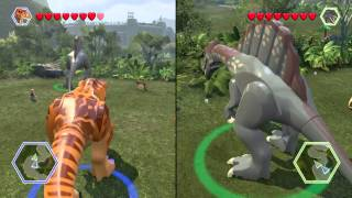 getlinkyoutube.com-LEGO® Jurassic World part 2 T rex vs Spinosaurus