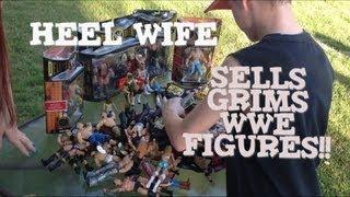 getlinkyoutube.com-Grims Toy Show ep 470: WWE Mattel elite wrestling action figures yard sale Collection display review