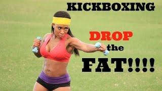 getlinkyoutube.com-Kickboxing with Keaira LaShae (DROP THE FAT!!)