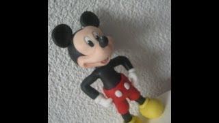 getlinkyoutube.com-1° Parte Mickey Mouse ( Cake Topper ) Topo do Bolo - Biscuit / Porcelana Fria