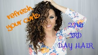 getlinkyoutube.com-HOW TO REFRESH CURLS | 2ND, 3RD DAY HAIR