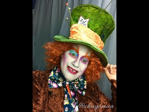 Mad Hatter Make-up Tutorial Time Burtons Alice and Wonderland