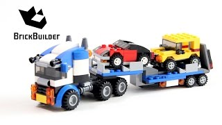 getlinkyoutube.com-Lego Creator 31033 Vehicle Transporter - Lego Speed Build