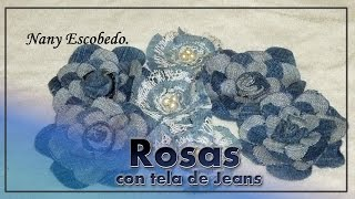 getlinkyoutube.com-ROSAS CON TELA DE JEANS / ROSES OF JEANS
