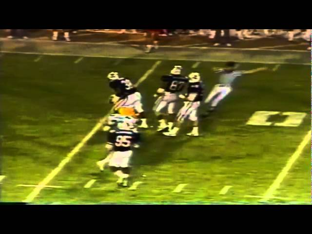 Oregon TE Kolya Tefft catches a 16 yard pass vs. Arizona 11-12-1988