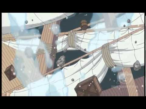 One Piece 585 - Trafalgar Law Lifts Marine Warship [Ope Ope No Mi] HD