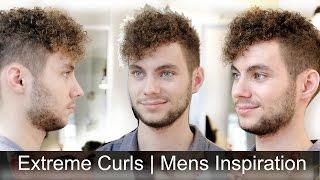 getlinkyoutube.com-Extremely Curly Hair   Men's Haircut Inspiration   Tutorial by Slikhaar TV